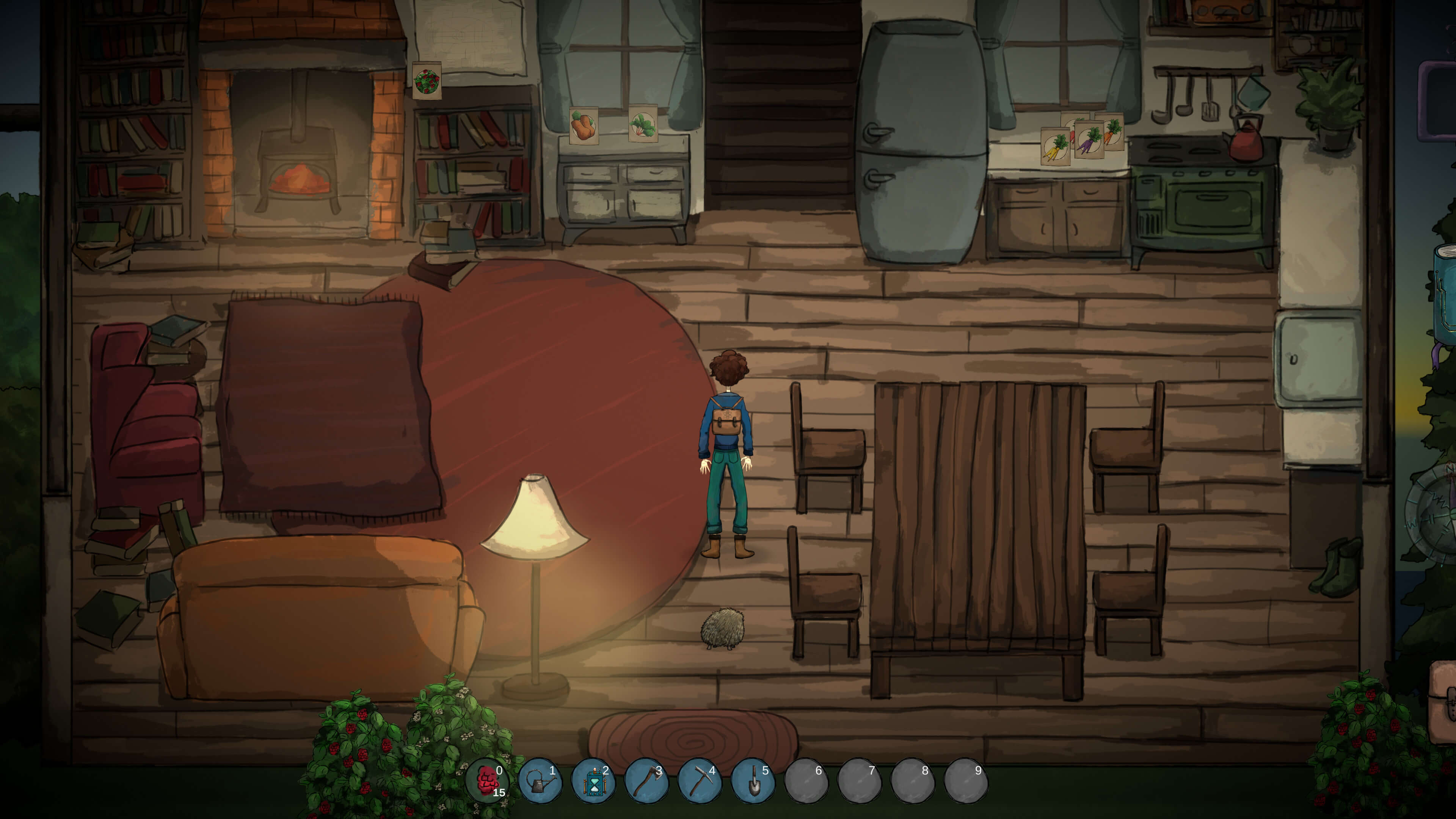 Inside Eugenia's farmhouse in Cultivate: Before Time